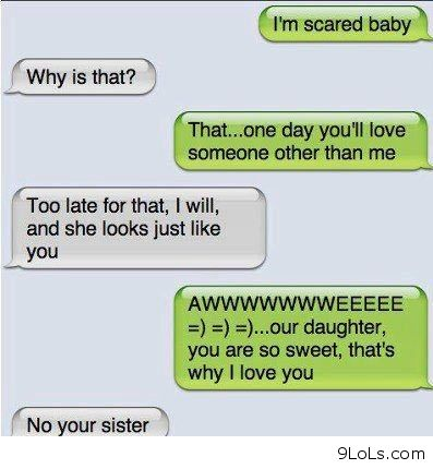 I\'m scared conversation - Funny Pictures, Funny Quotes ...