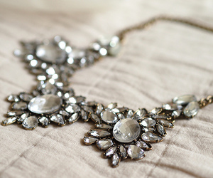 beautiful, statement necklace, and silver image