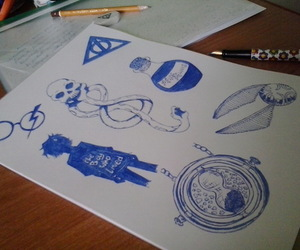 art, deathly hallows, and draw image