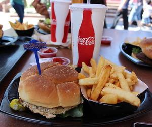 food, yum, and burger image
