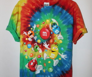 colors, tie-dye, and m&m image