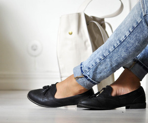 jeans, shoes, and fashion image