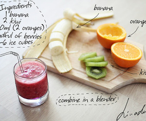 healthy, fruit, and smoothie image