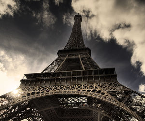 blue, eiffel tower, and photography image