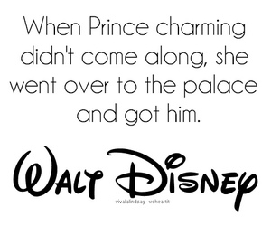 disney, quote, and prince charming image