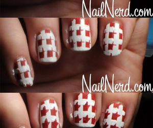 nails, tutorial, and houndstooth image