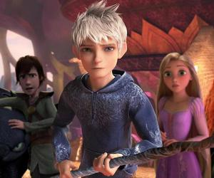 jack frost, merida, and rapunzel image