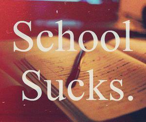 school, sucks, and text image
