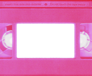 pink and vhs image