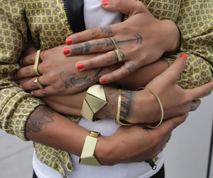 accessories, couple, and gold image