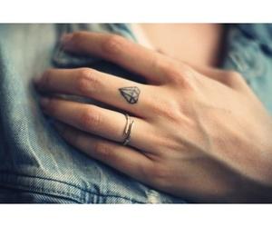tattoo, diamond, and ring image