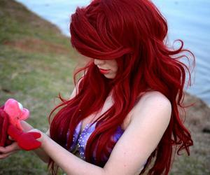 hair, ariel, and girl image
