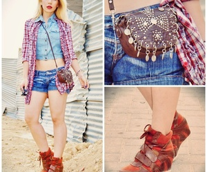 bags, denim, and ootd image