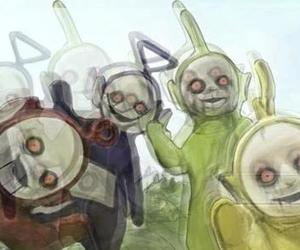 teletubbies and horror image
