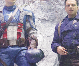 captain america, bucky, and steve rogers image