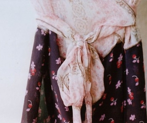 bow, dress, and flower image