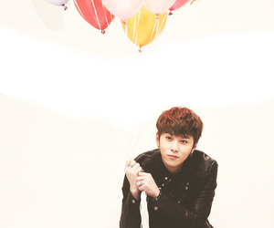 balloons, boy, and kpop image