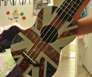 guitar, uk, and blue image