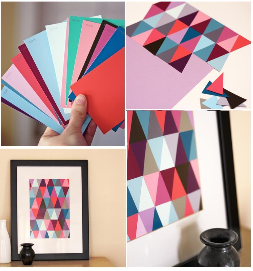 DIY Paint Chip Wall Art DIY Projects   UsefulDIY.com