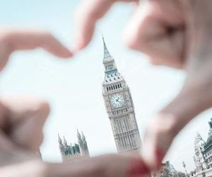 london, heart, and Big Ben image