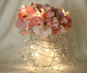 flowers, light, and pink image