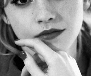 emma watson, black and white, and emma image