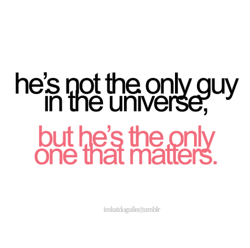 He\'s The Only One That Matters on We Heart It