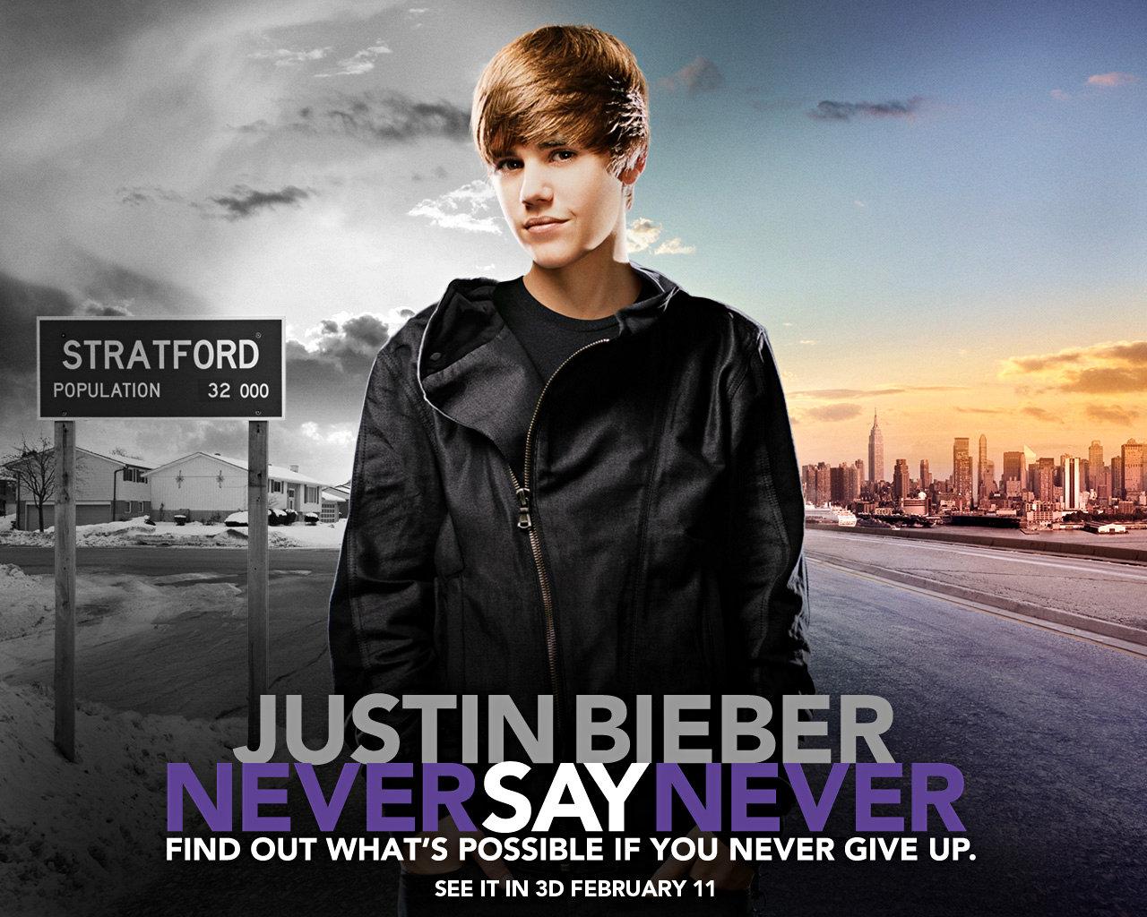 Justin Bieber Never Say Never Wallpaper 10025084 Desktop