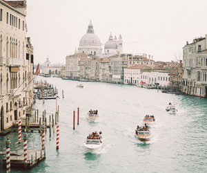 venice, vintage, and boat image