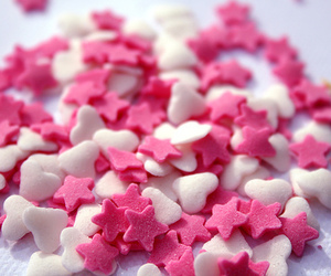 stars, pink, and hearts image