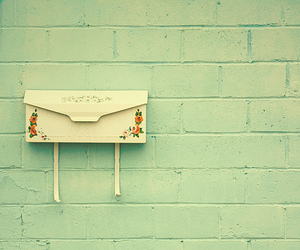 Letter, mailbox, and vintage image