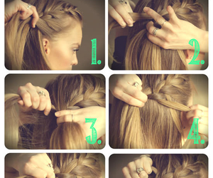 bohemian, braid, and step by step image