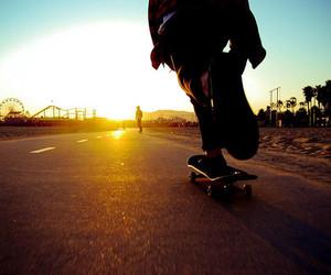 skate, skateboard, and boy image