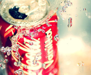 coca cola, drink, and water image