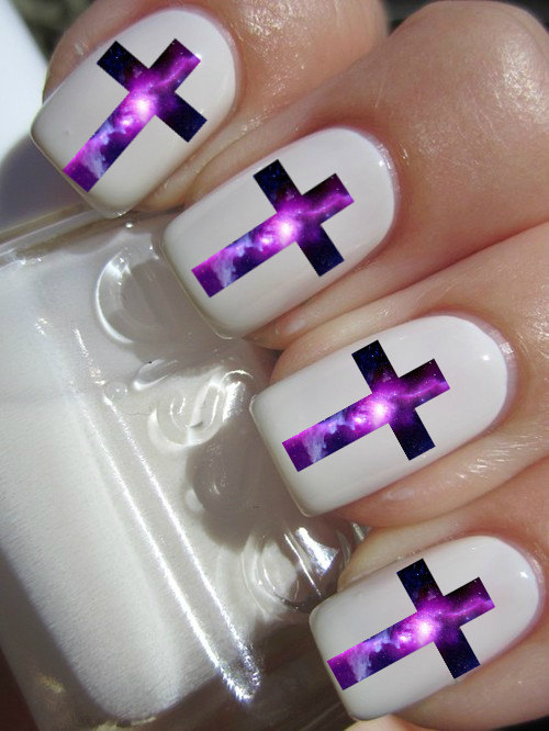 nails, galaxy, and white image