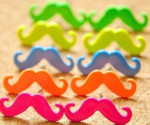 moustache, mustache, and orange image