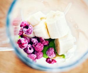 raspberry, banana, and fruit image