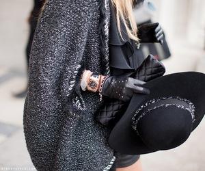 bag, hat, and black image