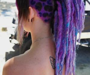 hair, dreads, and tattoo image