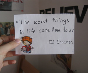 believe, things, and ed sheeran image