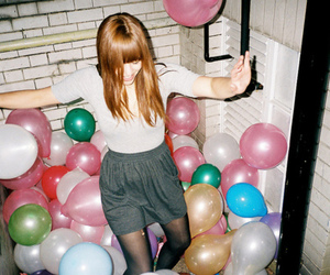 baloons, cute, and girl image