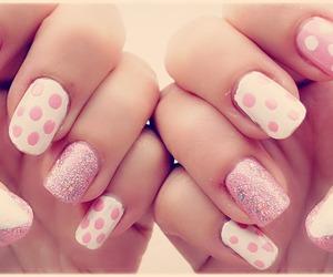 nailpolish, nails, and pink image