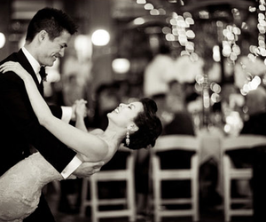 dance, black and white, and couple image