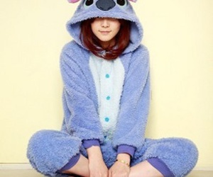 stitch, cute, and pijama image