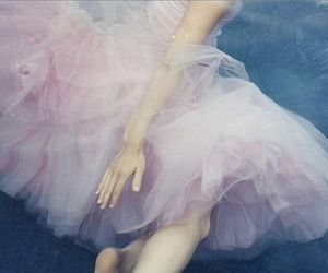 pink, dress, and water image