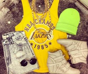 fashion, style, and lakers image