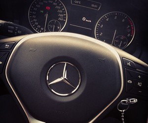 benz, car, and driving image