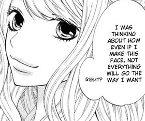 black and white, hurt, and shoujo image