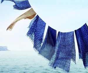 blue, cloth, and water image