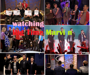 big time rush, lucas cruikshank, and marvin marvin image